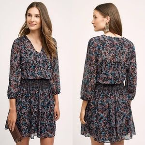 Anthropologie Vanessa Virginia Paisly Dress L NWT